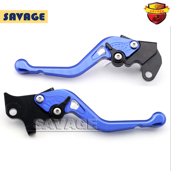 ФОТО For YAMAHA YZF R125 YZF-R125 2012-2013 Blue Motorcycle Accessories CNC Aluminum Short Brake Clutch Levers
