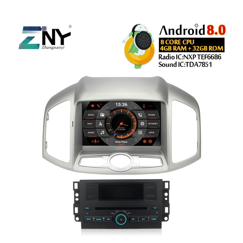 4GB Android 8.0 Auto Radio For Captiva 2012 2013 2014 2015 Car Stereo FM RDS PC GPS Navigation Audio Video Free Backup Camera