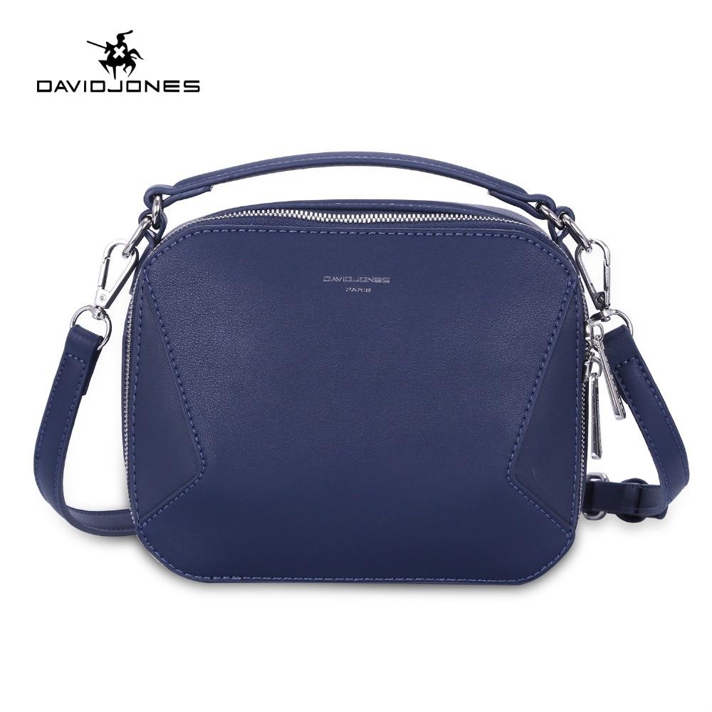 DAVIDJONES women shoulder bags faux leather female messenger bags small lady patchwork handbag girl  crossbody bag drop shipping bag