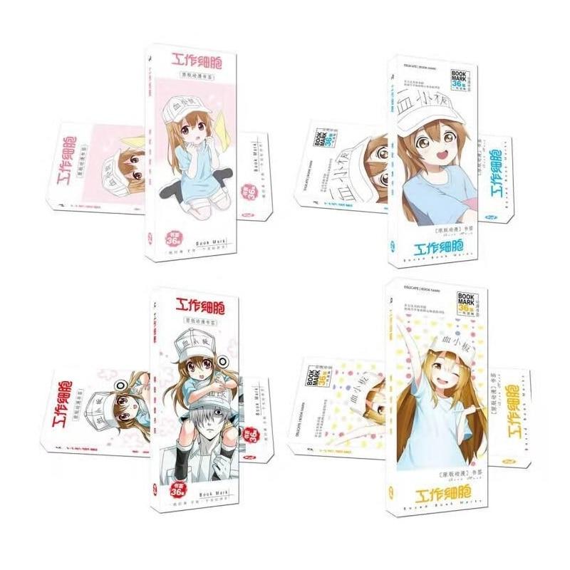 36 Pcs/Set Anime Hataraku Saibou Cells At Work Paper Bookmark Book Holder Message Card Gift Stationery