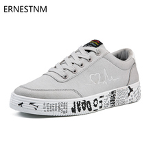 ERNESTNM 2019 Fashion Women Vulcanized Shoes Sneakers Ladies Lace-up Casual