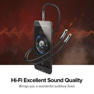 Image 4 - Ugreen rozdzielacz słuchawkowy kabel Audio 3.5mm męski na 2 żeńskie gniazdo 3.5mm Splitter Adapter kabel Aux dla iPhone Samsung odtwarzacz MP3