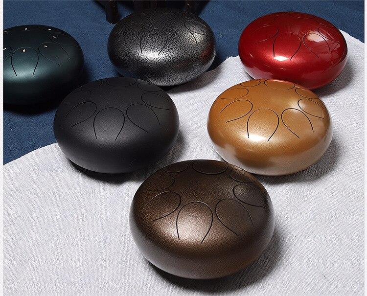 Réservoir de Handpan de tambour de langue en acier de 12