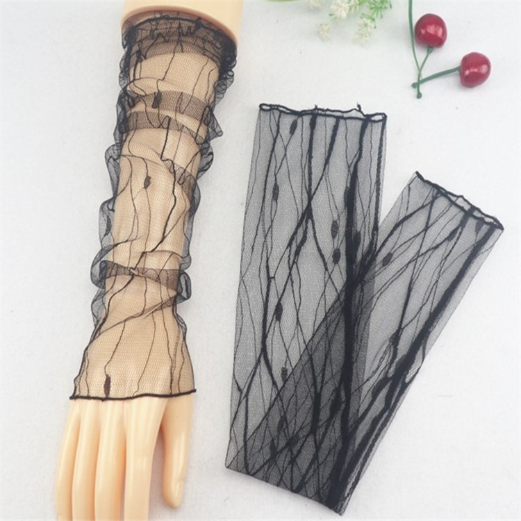 Women Summer Mesh Lace Ultra-thin Arm Sleeve Ladies Sexy Sunscreen Anti-UV  Breathable Cycling Gloves Driving  Arm Warmers