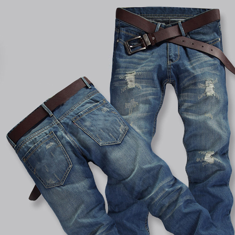 Jeans Men Pants Fear of God Trousers Pant Boost Biker Balmai Man Printing Masculina Ripped Jeans for Men Casual litter hole