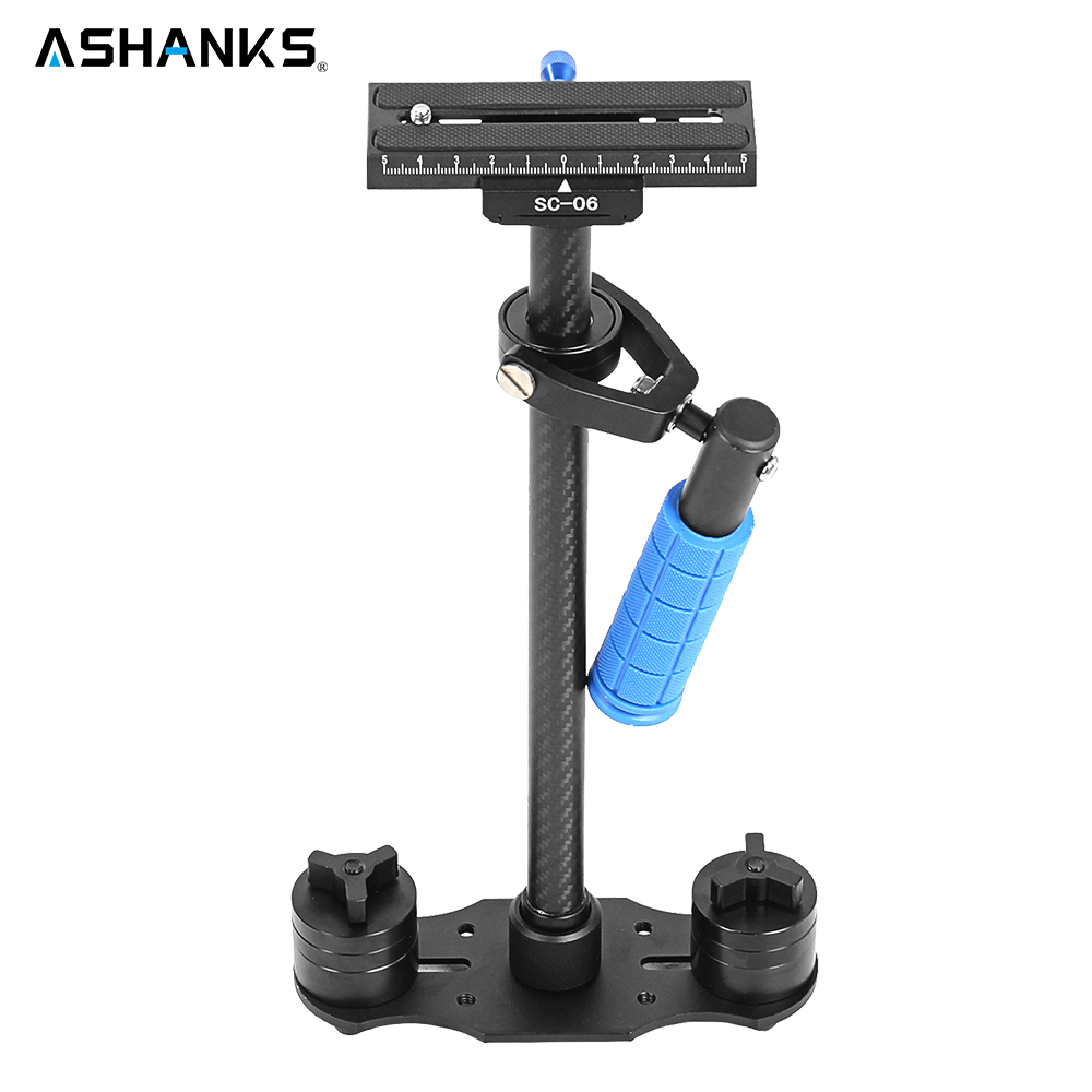ASHANKS S-60C 60cm Stabilizer  Load 3kg Carbon Fiber Steadycam  S60 with bag for DSLR camera and DV camcorder Free Shipping ajustable s60 gradienter handheld stabilizer steadycam steadicam photo studio stabilizer accessories for camcorder dslr