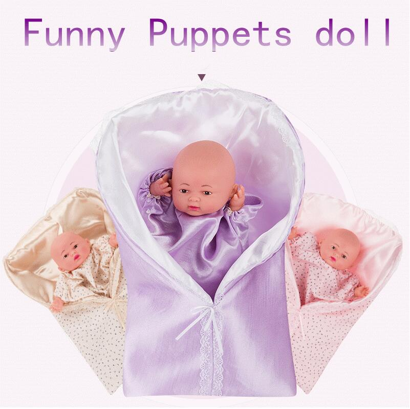 High Quality Lovely Plush Doll Toy Hand puppet Hand toy Lifelike Baby Shape Story Pretend Playing Dolls Toys Gift For Children camiseta para quemar grasa