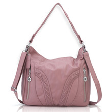 Angel barcelo 2019 Hot Selling Soft PU Leather Handbags Female Pink Shoulder Bags 1556 pink pu zip design shoulder bags