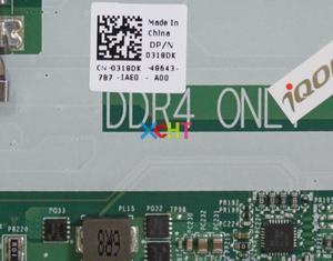 Image 3 - עבור Dell Inspiron 15 5577 CN 0318DK 0318DK 318DK w i5 7300HQ 3.5 ghz DDR4 מחשב נייד האם Mainboard נבדק