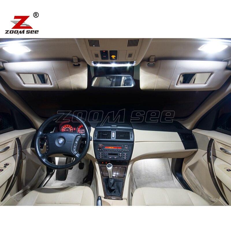 16 шт. светодиодный фонарь освещения номерного знака+ интерьер верхнее освещение Набор для BMW X3 E83(2004-2010