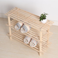 2/3 Layers Solid Wood Shoe Rack Shoe Storage Cabinet Organizer for Shoes Home Office Store Wooden Shoe Rack Door Stretcher Shelf