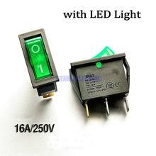 2 шт/лот 3 контакта ВКЛ/вкл С зеленой светодиодной подсветкой