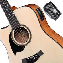 цена на JOYO EQ-MP3 Acoustic Guitar MP3 Equalizer Music Volume Bass Middle Treble Presence 3 Band Captador New
