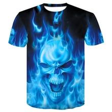 цена men t shirt blue Skull O-neck Men's Fashion Short Sleeve 3D Tshirts Casual For Male T-shirt Summer 2019 Brand Clothing tee tops онлайн в 2017 году