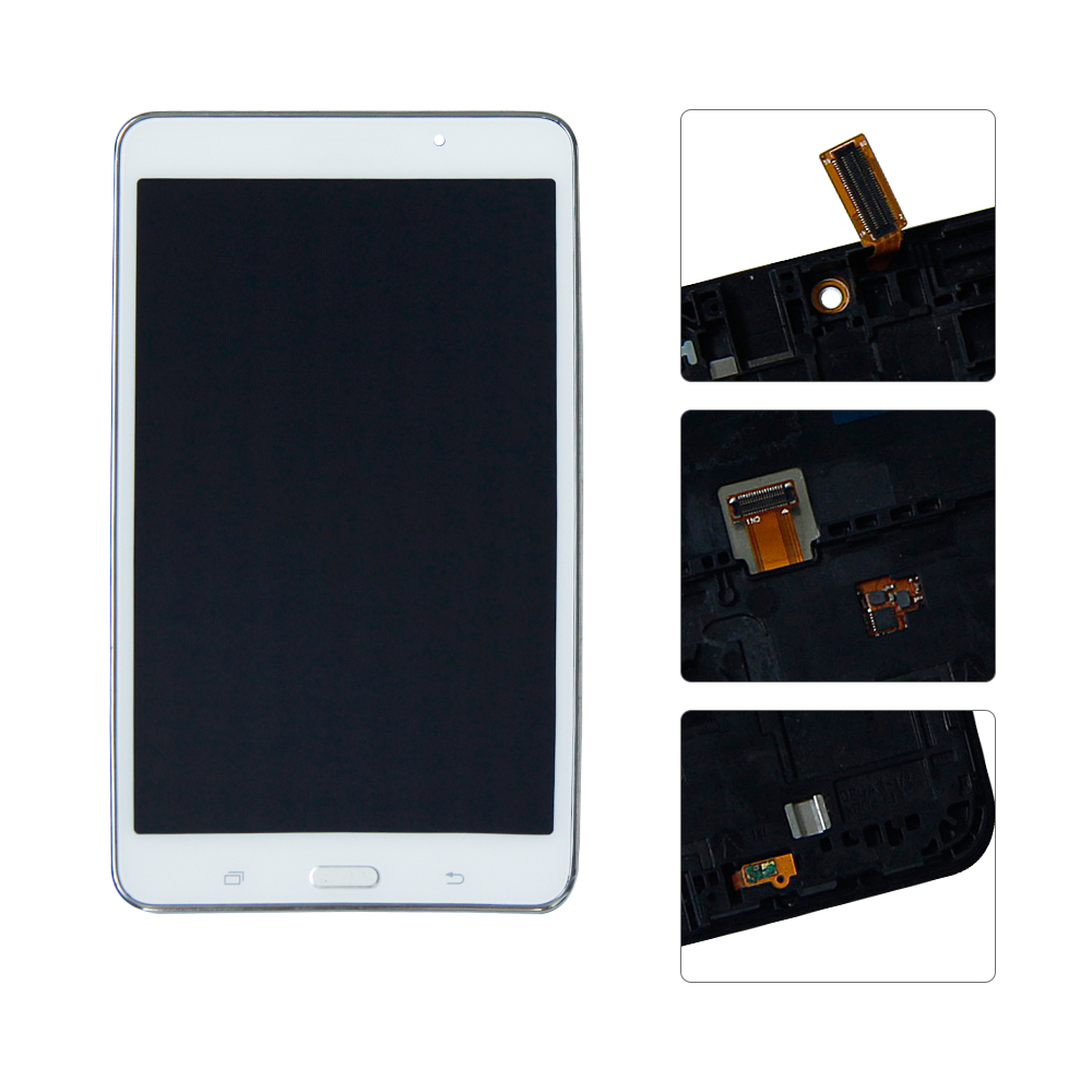 With Frame For Samsung Galaxy Tab 4 SM-T230 T230 LCD Display Touch Screen Digitizer Assembly Replacement