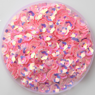 2000pcs/Lot 6mm Plum Blossom Cup Flower Loose Sequins Sewing Material,Wedding Confetti Craft,Kids DIY Garment Accessories