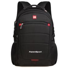 AspenSport 15.6 inch Waterproof Laptop Backpack for Men Women Fashion Nylon Luggage & Travel bags school Bag Rucksacks  Black