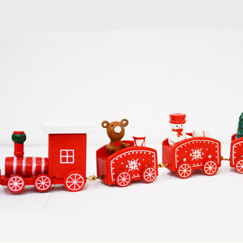 6pcs Mini Christmas Decoration Wooden Toy Train Home Decor Christmas Gift Kids Baby Toys Diecasts Toy Vehicles Children N3 in Diecasts Toy Vehicles from Toys Hobbies