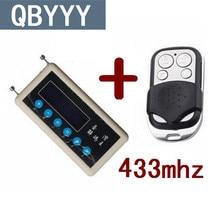 QBYYY cópia 433 mhz scanner de código remoto carro de controle remoto + 433 mhz A002 CNpost cópia de controle remoto porta do carro