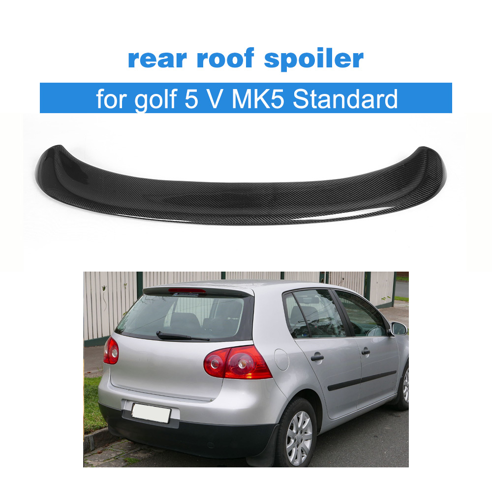 Carbon Fiber car carbon rear spoiler for VW auto rear wing for golf 5 V MK5 Standard 2006 2009 Non GTI A styling