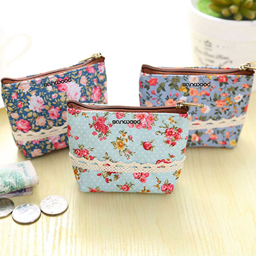 Новое поступление женский цветочный бумажник держатель для карт кошелек для монет; удобные мини-молния сумка