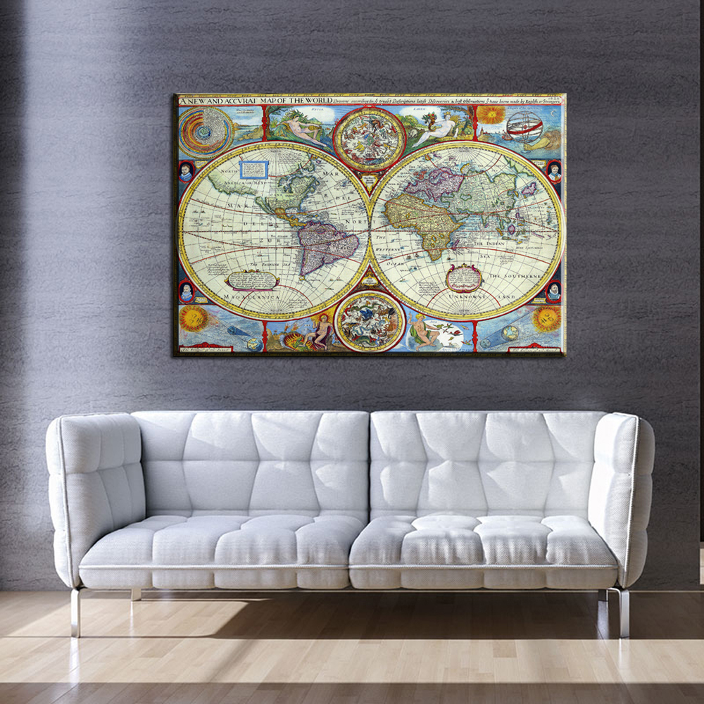 World Map Decorations Xx3146 Home Decor Canvas One Piece World Map Mural Art Decorations For Living Room Modern Wall Decor Wall Art Poster Artworks In Painting