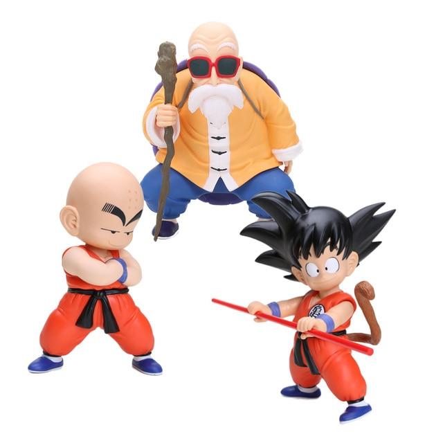 Us 1247 37 Off Dragon Ball Z Figure Dragonball Kid Kuririn Son Goku Master Roshi Pvc Action Figure Model Toys Boys Gifts In Action Toy Figures
