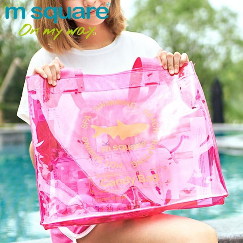 M Square Travel PVC ხელჩანთა ქალთა - ჩანთები - ფოტო 2