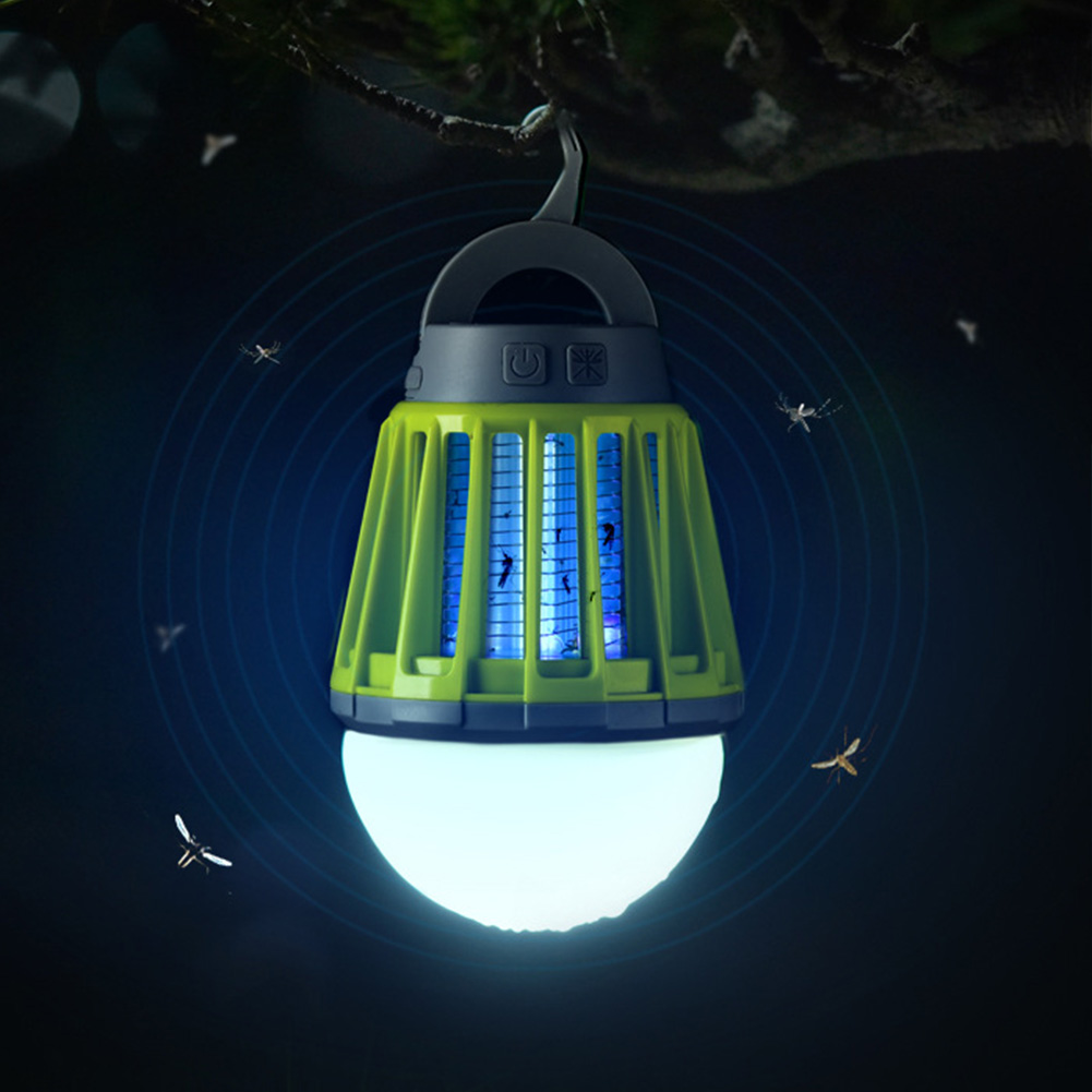 Portable Mosquito Killer Light USB Rechargeable UV LED Mosquito Trap Anti Repellent Lamp For Outdoor Camping Insect Waterproof