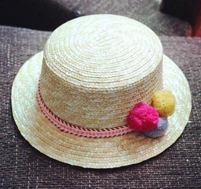 Sun Flat Straw Hat Boater Hat Girls Bow Summer Hats for Women Beach Flat Panama Straw Hat Chapeau Femme 48-52-54-58Cm,9,48-52Cm