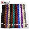 Xtrend Synthetic Kanekalon Jumbo Braids Hair Bulk 42'' 165g/Pack Long Crochet Braiding Hair Extensions Black Blonde Gray Blue