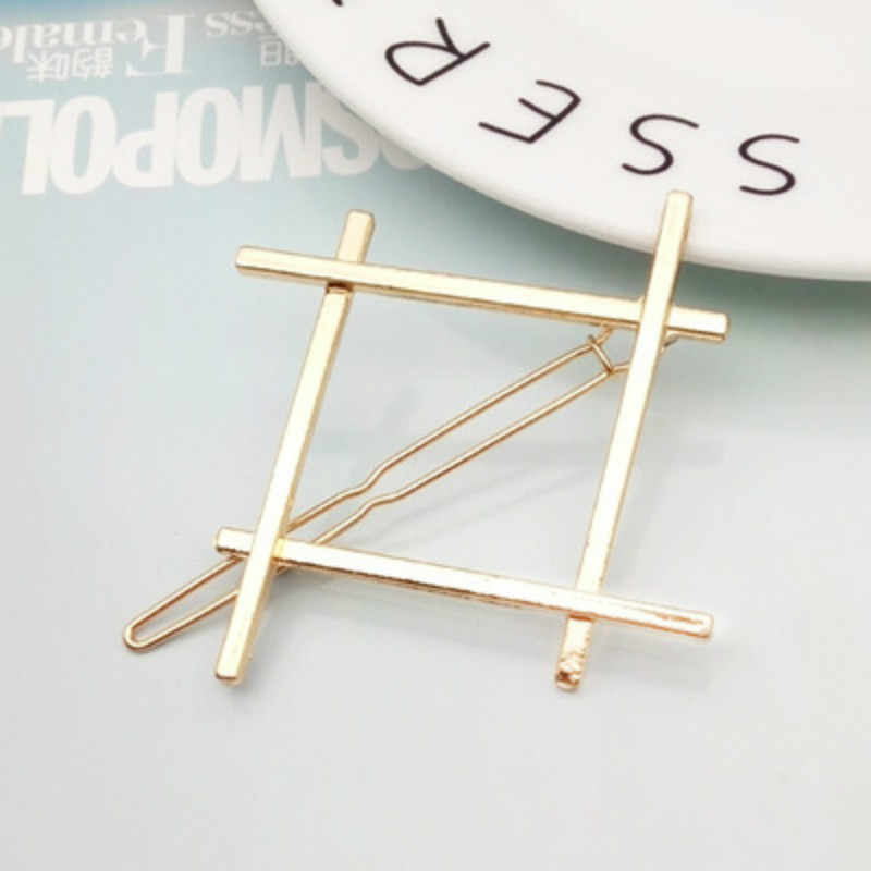 2019 Fashion Hair Clip for Women Elegant Design Triangular Moon Lip Round Barrette Stick Hairpin Hair Pins Head Accessories