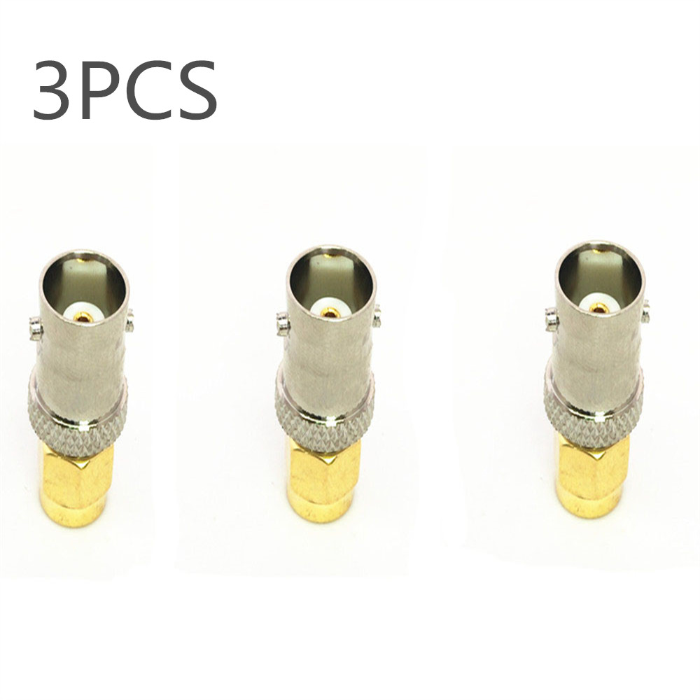 OPPXUN 3 pcs SMA-M Male To BNC Female RF Connector Antenna Telecom Coaxial Adapter BNC TO SMA-M