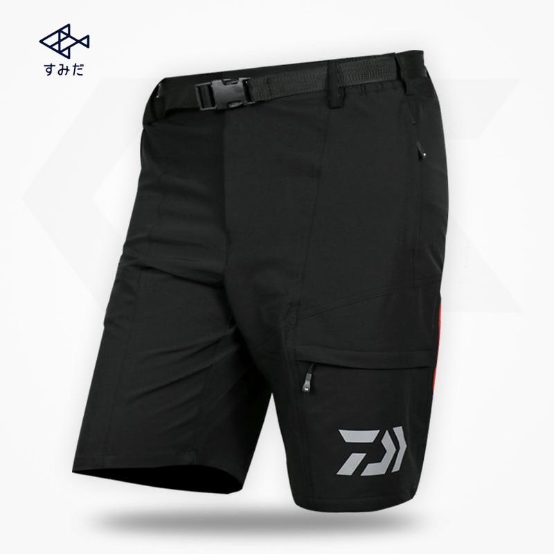 DAIWA New Summer Male Men Fishing Pants Thin Elastic Waterproof Fast Drying Trousers Breathable Fishermen Shorts M-XXXL