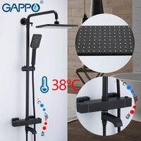 Barato Sistema de ducha GAPPO mezcladores de baño de Set de ducha de baño negro grifo mezclador