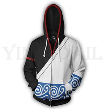 Anime Gintama Sweatshirt Men and Women Zipper Hoodies 3d Print Hooded Jacket for Boys Sakata Gintoki Harajuku Streetwear Cosplay