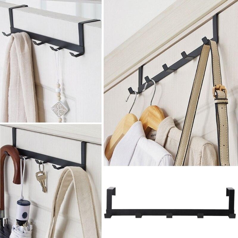 Over The Door Hook Rack Metal Hanger Storage Holder Hanging Coat Hat Towel Bag-in Storage Holders & Racks from Home & Garden