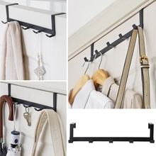 Over The Door Hook Rack Metal Hanger Storage Holder Hanging Coat Hat Towel Bag