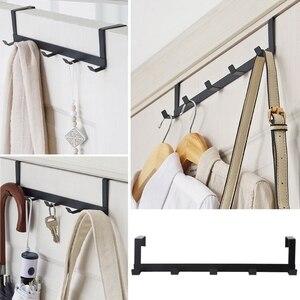 Image 1 - Over The Door Hook Rack Metal Hanger Storage Holder Hanging Coat Hat Towel Bag
