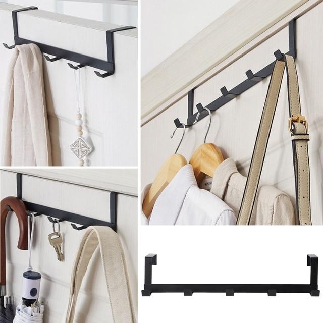 Over The Door Hook Rack Metal Hanger Storage Holder Hanging Coat Hat Towel Bag