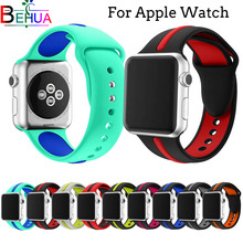 Classic Sport Silicone Strap Replaceable Bracelet band For Apple Watch Series 4/3/2/1 44mm 40mm 38mm 42mm Bracelet strap bands camouflage soft silicone band for apple watch series 3 2 replaceable bracelet strap with adapter for iwatch 42mm 38mm bands