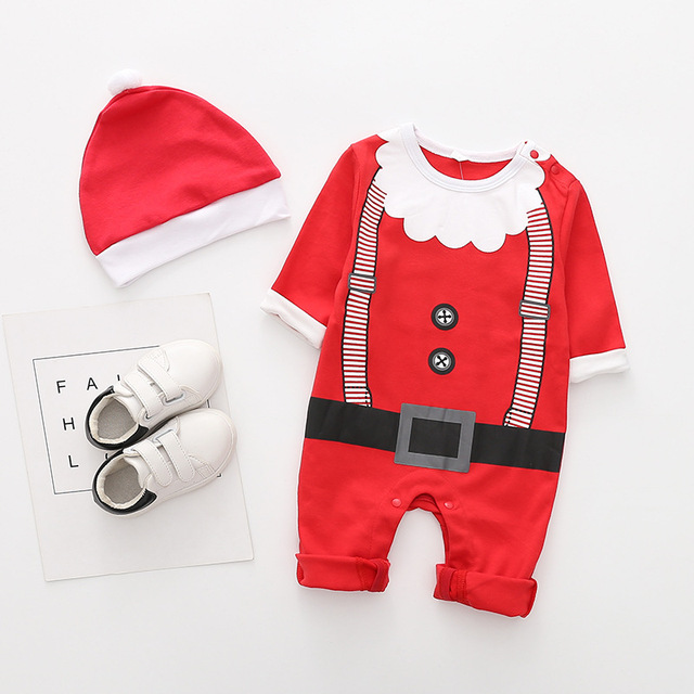 New arrival cotton baby rompers long sleeve autumn baby clothes baby boy's girl's Christmas costume deer Santa jumpsuits 3