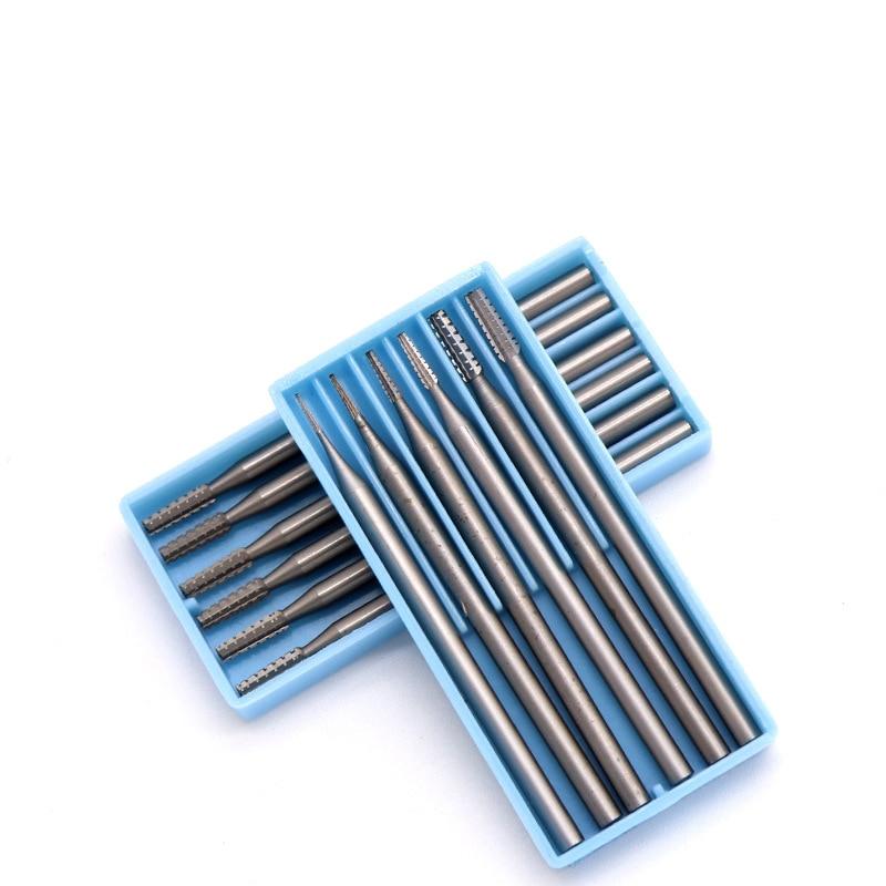 Gemotiveerd 6 Stuks 2.35mm Shank Diameter Carbide Bramen Mini Rotary Carving Mes Voor Hout Olijf Sieraden Microcarving Naald Voor Dremel Elegante Verschijning