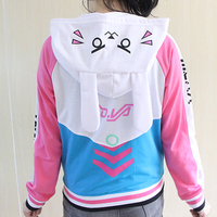 Anime Clothes DVa Hoodie Cosplay Costume D Va Adult Baseball Coat D Va Jacket Feminino Cosplay