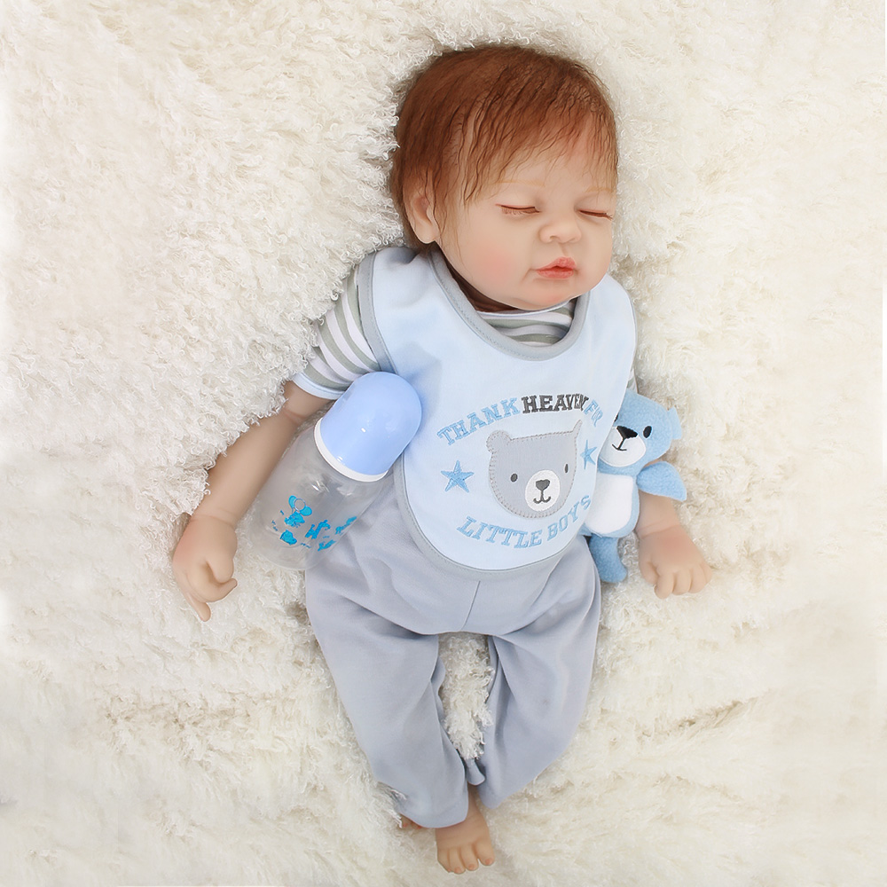 b3289047c84e Boneca Bebes Reborn 22 pulgadas suave silicona vinilo muñecas 55 cm suave  silicona Reborn Baby Doll regalo recién nacido Niño bebés realista