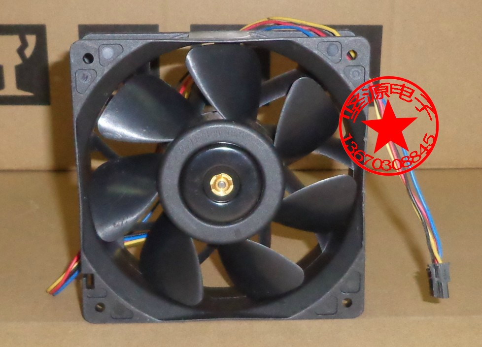 Original Delta 12038 12CM 48V 0.75A QFR1248GHE server dual ball bearing fan original delta afc1212de 12038 12cm 120mm dc 12v 1 6a pwm ball fan thermostat inverter server cooling fan