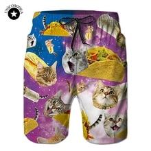 2020 Funny Shorts 3d Galaxy Space Cat Kitten Print Hip Hop Male Streetwear Track