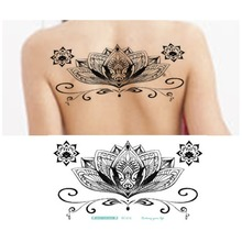Lace Tattoo Sex Products Back Tattoos Waterproof Temporary Tattoo Women Flash Flower Fake Tattoos Stickers 10 Styles for Choice
