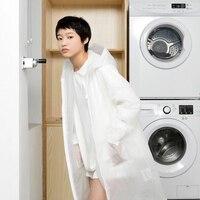 New Arrival Fashion Transparent Raincoat 100 EVA Waterpoof Women Rainware Translucent White Casacos Femininos Rain Poncho