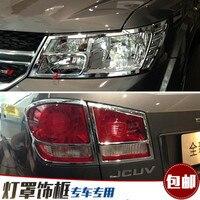 ABS Chrom Front scheinwerfer Lampe Abdeckung Hinten scheinwerfer Lampe Abdeckung fit für 2009-2016 Dodge Journey/Jcuv